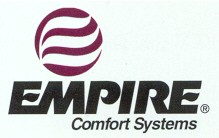 Empire Comfort Systems carries space heaters, blue flame heaters, radiant infrared plaque heaters, vented furnaces, cast iron stoves, fireplaces, wall furnaces, wall furnaces, gas logs, vent free fireplaces, vent free fireboxes, fireplace inserts, floor furnaces, and cooking stoves.
